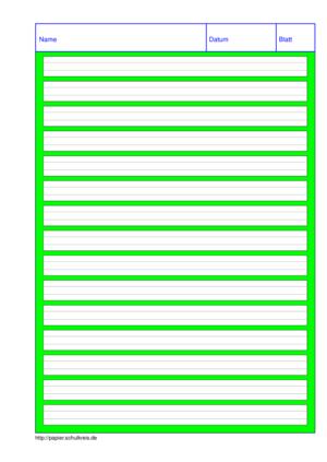 Grundschulpapier Linien Und Karos Selbst Kostenlos Ausdrucken